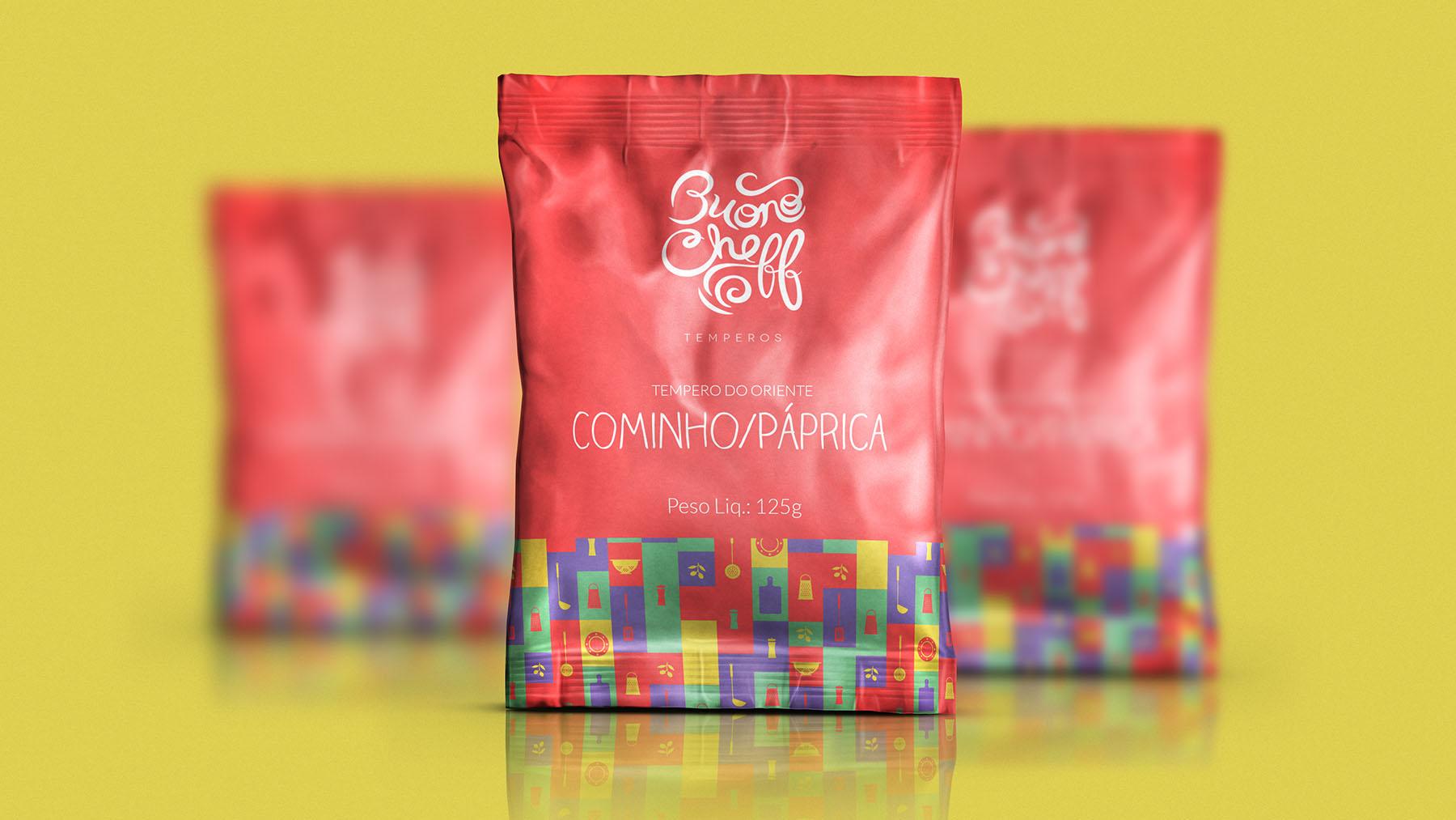 Design de embalagem Buono Cheff