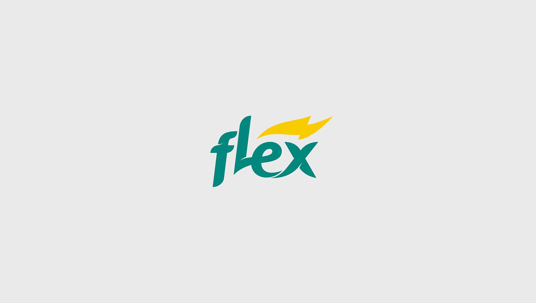 Criação do logo Postos Flex