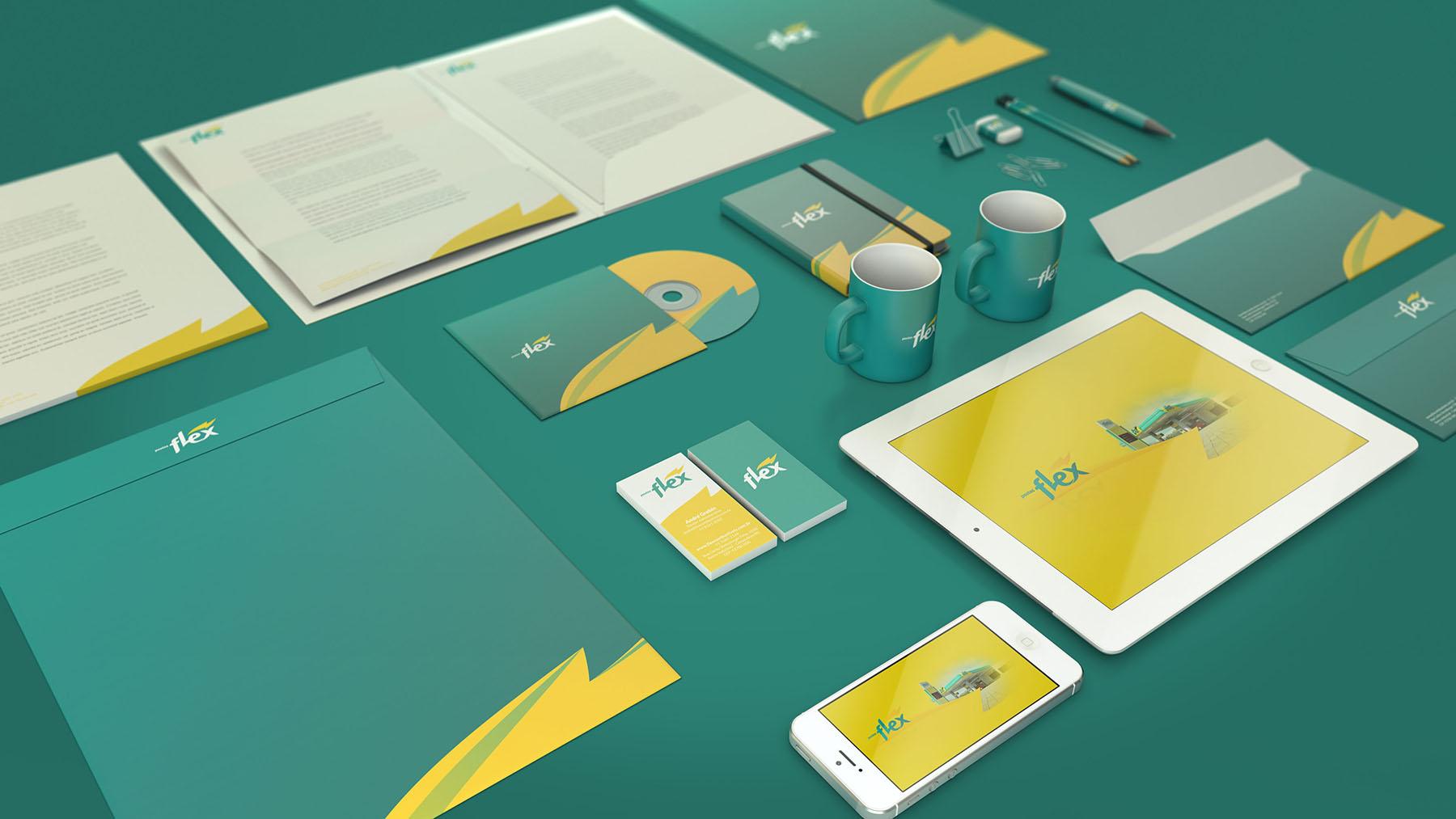 Design de papelaria para rede de Postos Flex